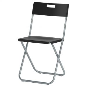 IKEA folding chair black