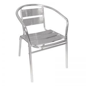 Aluminium Chair with Armrest