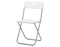 Plastic Foldable Chairs (White/Black)
