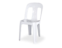 Plastic Chairs (White/Blue/Red)